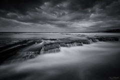 Little Austi Flow III (Crouchy69) Tags: ocean sea sky seascape motion beach water clouds sunrise landscape flow dawn coast waterfall rocks long exposure little australia cascades austinmer