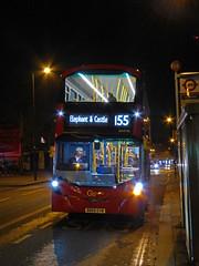 GAL WHV90 - BD65EVM - CLAPHAM NORTH - TUE 8TH DEC 2015 (Bexleybus) Tags: london ahead volvo go north route hybrid clapham gemini 155 tfl goahead wrightbus whv90 bd65evm