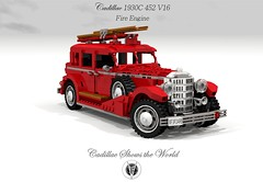 Cadillac 1933 452C V16 Fire Engine (Matchbox - Models of Yesteryear) (lego911) Tags: auto usa classic car america vintage fire switzerland 1930s model gm lego general render engine cadillac motors aaran oldtimer veteran 452 challenge sixteen 97 cad fleetwood brigade lugnuts 1933 povray v12 moc ldd miniland foitsop 452c lego911 ourfirstwheels