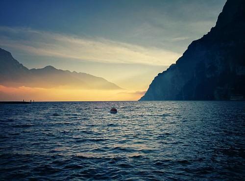 Riva del Garda #rivadelgarda #lagodigarda #beach #sunset