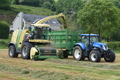 Krone Big X 770 SPFH filling a Thorpe Trailer drawn by a New Holland T7.200 Tractor (Shane Casey CK25) Tags: krone big x 770 spfh filling thorpe trailer drawn new holland t7200 tractor t7 200 nh cnh blue green newholland self propelled forage harvester silage silage16 silage2016 grass grass16 grass2016 winter feed fodder county cork ireland irish farm farmer farming agri agriculture contractor field ground soil earth cows cattle work working horse power horsepower hp pull pulling cut cutting crop lifting machine machinery nikon d7100 traktori tracteur traktor trekker trator cignik