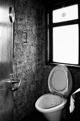 Train toilet (Michael Erhardsson) Tags: toalett toa toilet train tg tgtoalett svartvitt gammaldags 2010 interir