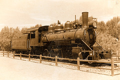 Furnace Creek Museum (scuthography) Tags: furnacecreek nationalpark deathvalley california locomotive old sepia style awesome impressedbeauty scuthography