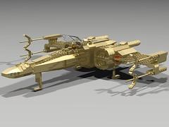 C3PO's X-Wing (cruzen19501) Tags: lego c3po xwing