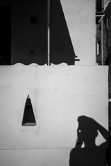 Hello (Georgios Karamanis) Tags: greece karamanis kimolos me self selfportrait shadow triangle awning