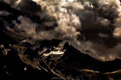 Clair-Obsur Pictural (Frdric Fossard) Tags: paysage montagne nature ombre lumire clairobscur atmosphre dramatique chardonnet glacier art abstrait surraliste luminance alpes hautesavoie massifdumontblanc peinture pictural orage cloudsstormssunsetssunrises