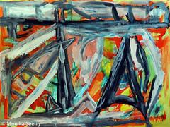 Gedanken an Paris (Monika Seelig) Tags: monikaseelig mixedmedia hegelhof art abstract kunst austria ausstellung