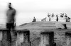 Decaying Structures and Fading Men (Ajayan Kavungal Anat) Tags: monochrome blackandwhite street kozhikode beach people travel abstract