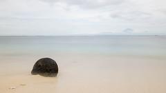 Mount Agung (HansPermana) Tags: indonesia lombok gilitrawangan island holiday touristic relax trip travel traditional stone soft cloudy mountain sea seashore seascape sand water blue