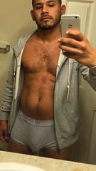Juanito boner Jonathan (Havana Miami) Tags: gay man california underwear juanito boner penis bulge grey mexican brown verygay guyswithphones selfie hard