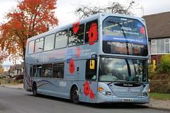 Nottingham City Transport 959 - Poppy Appeal Bus 2016 (Ash Hammond) Tags: nottinghamcitytransport scanian270ud darwenomnidekka 959 yn08mlx