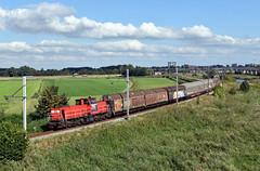 Moordrecht, goederentrein naar Alphen a/d Rijn (Ahrend01) Tags: a20 electrolux alphen ad rijn serie 6400 vierasser gesloten wagen schuifwandwagen spoorlijn goudaalphen