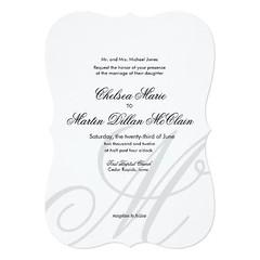 (Simple Elegant Monogram white wedding invite) #BlackAndWhite, #Cursive, #Elegant, #Initial, #Monogram, #Script, #Simple, #SimpleElegantWedding, #SingleMonogram, #Traditional is available on Custom Unique Wedding Invitations store http://ift.tt/2dTzRn2 (CustomWeddingInvitations) Tags: simple elegant monogram white wedding invite blackandwhite cursive initial script simpleelegantwedding singlemonogram traditional is available custom unique invitations store httpcustomweddinginvitationsringscakegownsanniversaryreceptionflowersgiftdressesshoesclothingaccessoriesinvitationsbinauralbeatsbrainwaveentrainmentcomsimpleelegantmonogramwhiteweddinginvite weddinginvitation weddinginvitations