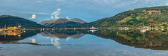 Sandbank reflections (MC Snapper78) Tags: scotland nikond3300 panoramic stitch hills mountains argyllandbute firthofclyde holyloch sandbank dunoon reflections reflecting reflection landscape scenery scenic marilynconnor