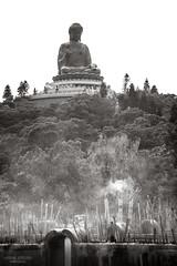 Tian Tan Buddha (vincent.lecolley) Tags: buddha tiantan lantau island hongkong incense smoke forest religion mystic