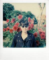 instant film (La fille renne) Tags: film analog lafillerenne instantfilm polaroid polaroidsx70 impossibleproject impossiblesx70color sx70 flowers nature portrait woman poulettemagique
