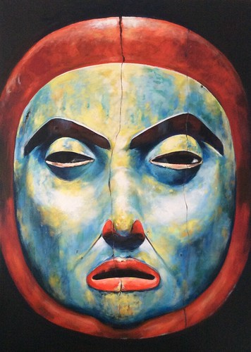 Mirro Image - Native Mask Art - Painting