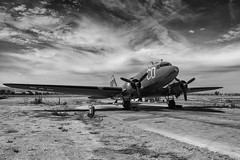 C-47 (bmiller912) Tags: canon california blackandwhite bw aircraft airplane warbirds wwii monochrome slocounty pasoroblesca c47