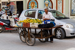 Mandarin seller (l0pht) Tags: 2016 october turkey street town travel demre mandarin seller oldman old man