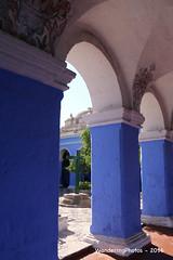 Santa Catalina Monastery - Arequipa Peru (WanderingPhotosPJB) Tags: blue peru arequipa santacatalina saintcatherine colour colourful monastery convent