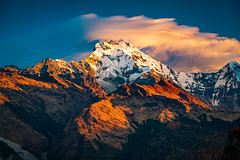 Sunrise over the Annapurna Mountain Range, Annapurna Region, Nepal (CamelKW) Tags: nepal sunrise annapurna mountainrange annapurnaregion trekking annapurnatrek himalayas