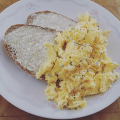 Breakfast (mblaeck) Tags: breakfast eggs scrambledeggs bread eggsandbread scrambledeggsandbread meal food takenwithphone takenwithsamsung takenwithmobile samsunggalaxys5 samsung samsunggalaxy samsunggs5 samsungmobile galaxys5 gs5 phonography mobilephonography quick simple simplemeal simplefood simplebreakfast indoor foodonaplate mealonaplate squarephoto farmersbread olivespread yum delicious tastey yummy eggsscrambled protein savory