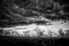 untitled (francesco_if ) Tags: blackandwhite clouds cloud sky cielo biancoenero landscape panorama city citt roma d3 nikon sunset tramonto nuvole