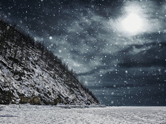 End of world. (Simon Matzinger) Tags: winter snow cold frozen snowing end world stormy lake baikal sibiria russia