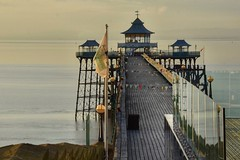 Bunting (Nige H (Thanks for 6.5m views)) Tags: pier clevedon clevedonpier seascape history victorian victorianpier bristolchannel somerset england