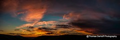 Lindy Pt Sunset Pano (Thomas DeHoff) Tags: sunset panorama lindy pt west virginia clouds sony a700