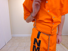 DJI_0261 (boblaly) Tags: inmate chain chained prison prisoner jumpsuit jail uniform waist cuffed cuffs chains convict locked secure shackles handcuffs handcuffed padlock shackled restraints restrained arrested arrest