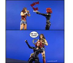 Wonder Woman vs Black Widow (metaldriver89) Tags: batman batmanvsuperman v vs superman mattel dc multiverse dcmultiverse dccollectibles cowl darkknight dark custom cloth cape customcape dcuc universe classics batmanunlimited legacy unlimited actionfigure action figures toys matteltoys new acba articulatedcomicbookart articulated comic book art movie dccomics gotham gothamcity actionfigures figure toyphotography toy nightmarebatman nightmare batmobile indoor thedarkknight thedarkknightreturns mafex medicom suicidsquad playset dio diorama wonderwoman wonder woman diana prince princess amazon people blackwidow black widow marvel marvellegends legends marvelcomics