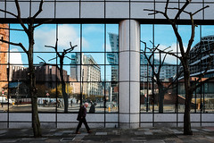 Manchester. (Keith Vaughton) Tags: streetphotography colour reflection x100t manchester