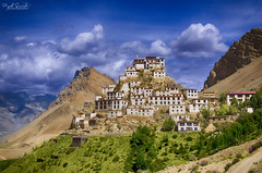 Key Monastery HDR, Spiti Valley (Piyush.Saxenaa) Tags: nikon d5100 nikond5100 18105mm 18105 nikon18105mmf3556 nikon18105mmafsdxzoomnikkorf3556gedvrlens piyush piyushsaxena piyushsaxenaa psphotography kaza spiti spitivalley key keymonastery himachal himachalpradesh monastery landscape scenery mountain mountains green greenmountains hdr cloud clouds nature outdoor architecture building