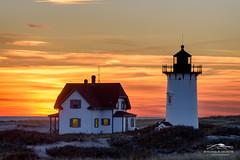 Afterglow (Mike Blanchette) Tags: capecod coast lighthouse massachusetts provincetown racepoint seacoast seascape sun sunset coastal usa