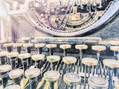Strike a Key (clarkcg photography) Tags: type typewriter old manual keys letters numbers ribbon underwood slidersunday