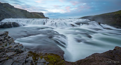 Gullfoss Waterfall (TP DK) Tags: silky iceland blue midnight waterfall rock sky mountain milkywater white leefilters clouds