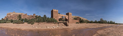 Back to the past II (biktoras07) Tags: aitbenhaddou marroc castle city mud river blue sky water vegetation victorsantos panorama outdoor outside gate building tree medieval