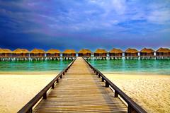 Sheraton Maldives Full Moon Resort and Spa (EXPLORE 17/11/2016 #401) (ClickSnapShot) Tags: ilobsterit overwaterbungalows sheraton sea indianocean bangalows sheratonmaldives sheratonfullmoonresortandspa resort hotel vacation bridge bluesky whitesandybeach beach whitesand paradise panorama blueocean relax furanafushi island resortandspa