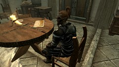 Chillin - 20161112034040_1 (Borgakh gra Khazgur) Tags: dunmer championofboethiah sitting table chillin hearthfiredlc heljarchenhall npc