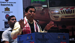 GUWAHATI: Assam Chief Minister Sarbananda Sonowal addressing the flagging off ceremony of India-Myanmar- Thailand (IMT) car rally in Guwahati on Saturday. (legend_news) Tags: srinagar jammuandkashmir india guwahati assam chief minister sarbananda sonowal addressing flagging off ceremony indiamyanmar thailand imt car rally saturday