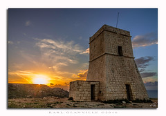 Sunset at Lippija Tower (glank27) Tags: gnejna lippija tower watchtower malta sunset sky clouds canon eos 70d karl glanville efs 1585mm f3556 military 1637 knights st john lascaris order coast guard history heritage ancient medieval historic observation strategic building