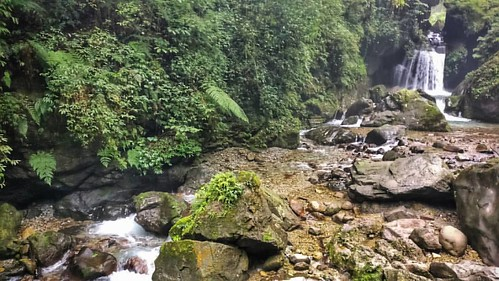 Waterfall on our new race location.  Epic jungles in the mountains.