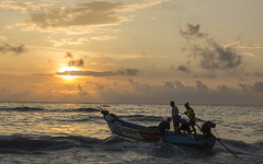 Into the sea (Prakash clicks) Tags: chennai marina marinabeach beach boat people peopleofindia sunrise sea coast tamilnadu southindia lifeinindia india photographyofindia canon sunlight light silhouette naturallight morning water men