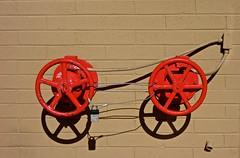 Locked Together (ricko) Tags: valves lock locked red wall shadows conduit samsclub overlandpark kansas
