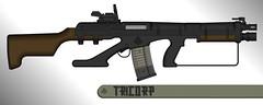 Tricorp Enforcement - Evythica C-556 (Steve Zerker  ValkyrianThunder) Tags: experimental rifle pimp gun custom 556