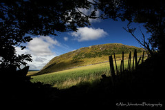 Broken Boundaries (ajp~) Tags: traprainlaw eastlinton eastlothian scotland hill trees fence field crops farming silhouette landscape clouds sky shadows framed canon 6d canon1740mmf4l alanjohnstone