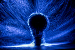 Dark light....Come shine in her lost heart tonight!  (The Mad Macrographer) Tags: lightbulb lightpainting indoors tabletopphotography fibreoptics canon7d canonefs1855mmf3556isstm longexposure peterborough uk nikkvalentine