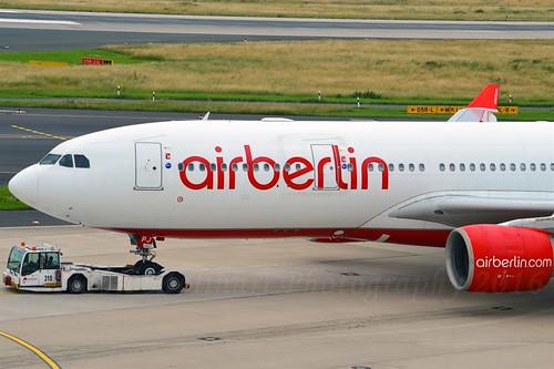 Air Berlin D-ALPJ Airbus A330-223 cn/911 @ EDDL / DUS 26-06-2016