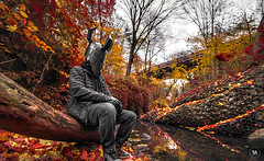 Don't Let Fall Slip Away... (Patrick.Younger.Photography) Tags: indestructible movie comic figure dunc creative portrait forest story character helmet designer design landscape autumn epic person